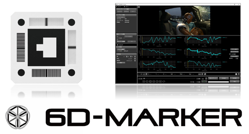 6D-MARKERと6D-MARKER Analyst操作画面